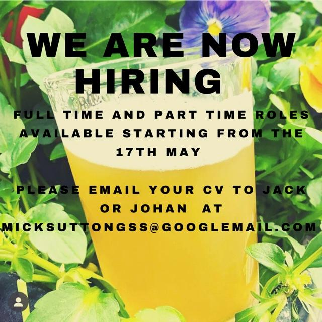 Full Time and Part Time Bar Work