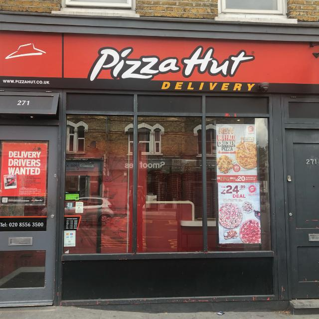 Bike Riders And Car Drivers Pizza Hut Delivery Leyton