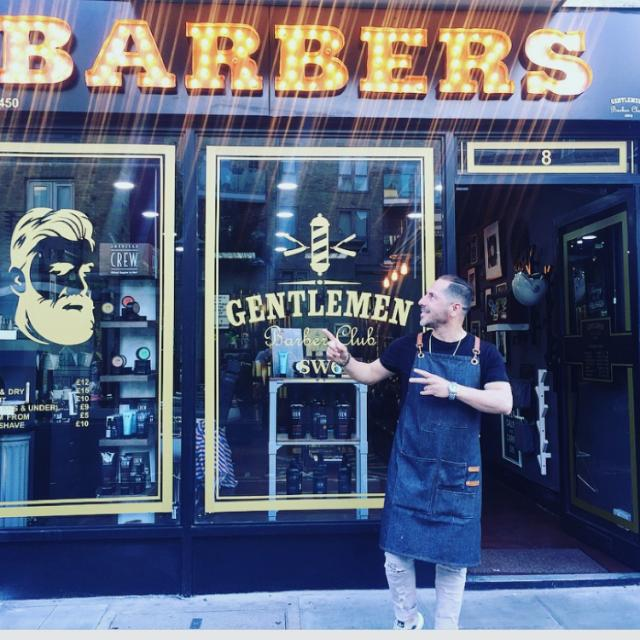 Hairdresser, hairstylist for men barber shop