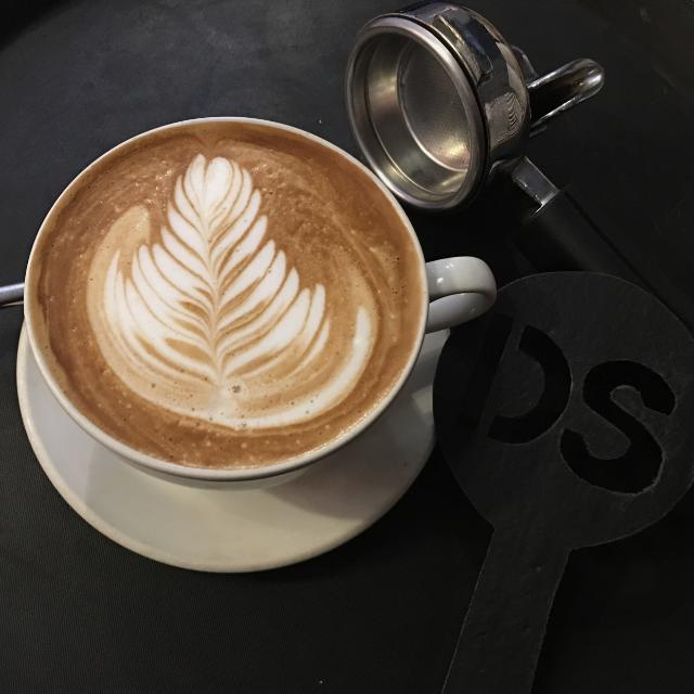 Barista with latte art